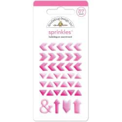 Monochromatic Sprinkles Glossy Enamel Arrow Stickers 54/Pkg - Bubblegum