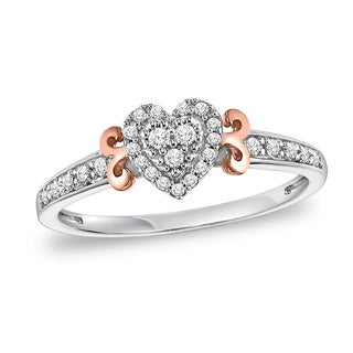 Cambridge 1/5ct TDW Sterling Silver Diamond Heart Promise Ring (I-J, I2-I3)