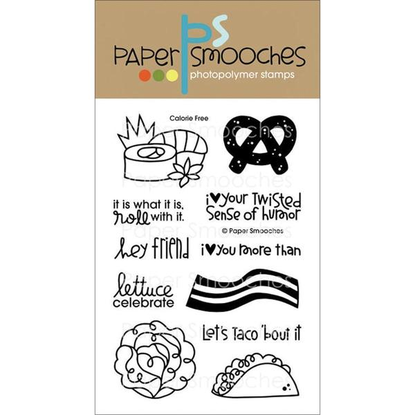 Paper Smooches 4 X6 Clear Stamps - Calorie Free