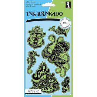 Inkadinkado Cling Stamps 4 X6 Sheet - Caribbean Seas