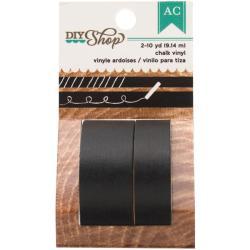 DIY Shop Washi Tape 10yd Roll 2/Pkg - Chalk Vinyl