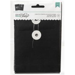 DIY Shop Cards W/Envelopes 12/Pkg - Chalkboard 4.25 X5.75 Security