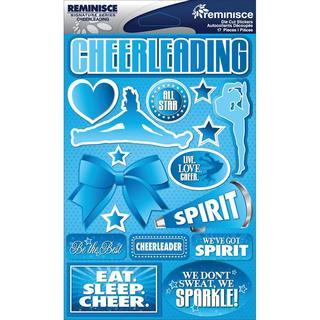 Signature Dimensional Stickers 4.5 X6 Sheet - Cheerleading