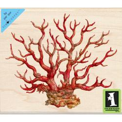 Inkadinkado Mounted Rubber Stamp 4 X3.5 - Coral