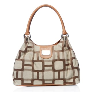 Nine West Carmen Khaki/ Cognac Shopper Bag