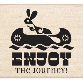 Inkadinkado Mounted Rubber Stamp 2.5 X2.25 - Enjoy The Journey