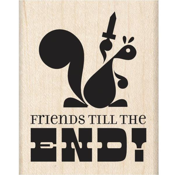 Inkadinkado Mounted Rubber Stamp 2 X2.5 - Friends Till The End