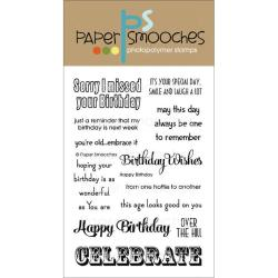 Paper Smooches 4 X6 Clear Stamps - Happy Birthday