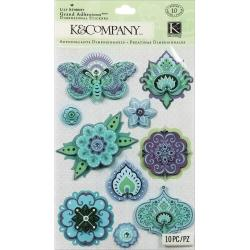 Indigo Garden Grand Adhesions Dimensional Stickers - Icons