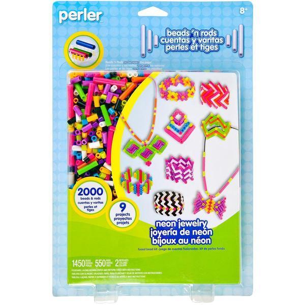 Perler Fun Fusion Fuse Bead Activity Kit - Neon Jewelry