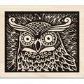 Inkadinkado Mounted Rubber Stamp 4 X3.5 - Owl