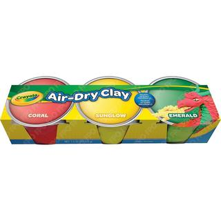 Crayola Air Dry Clay 3/Pkg - Pastel Colors
