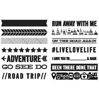 Wanderlust Roller Stamp - Phrases