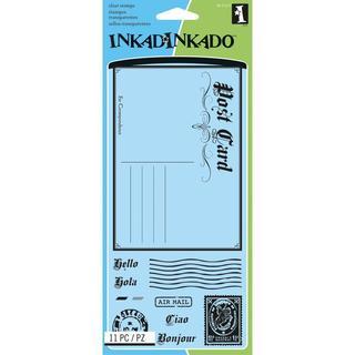 Inkadinkado Clear Stamps 4 X8 Sheet - Post Card