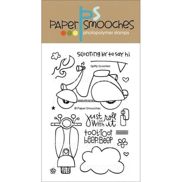 Paper Smooches 4 X6 Clear Stamps - Spiffy Scooters