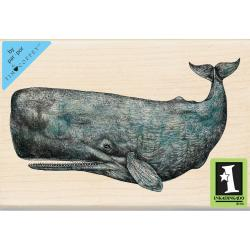 Inkadinkado Mounted Rubber Stamp 4 X2.75 - Sperm Whale