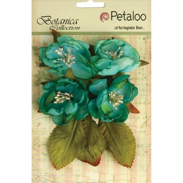Botanica Blooms 4/Pkg - Teal