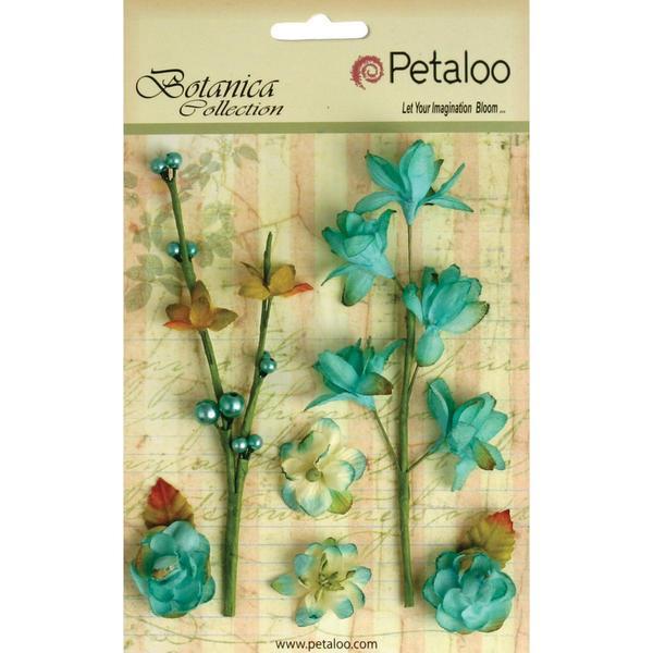 Botanica Floral Ephemera - Teal