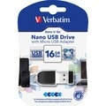 Verbatim 16GB Store 'n' Go Nano USB Drive with Micro USB Adapter