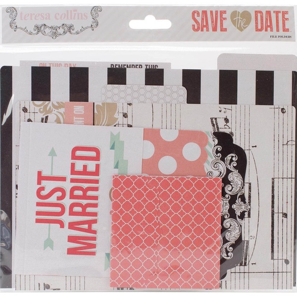 Save The Date Cardstock File Folders & Tags -