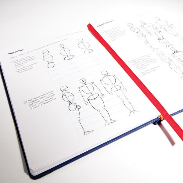IDRAW Comics Sketchbook & Reference Guide - Blue