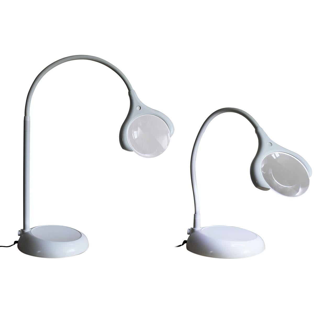 Magnificent floor table led magnifying lamp white for Craft lamp with magnifier