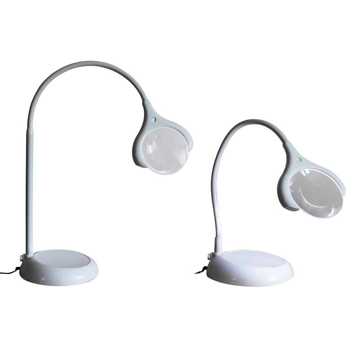 Magnificent floor table led magnifying lamp white for Magnifier lamp for crafts