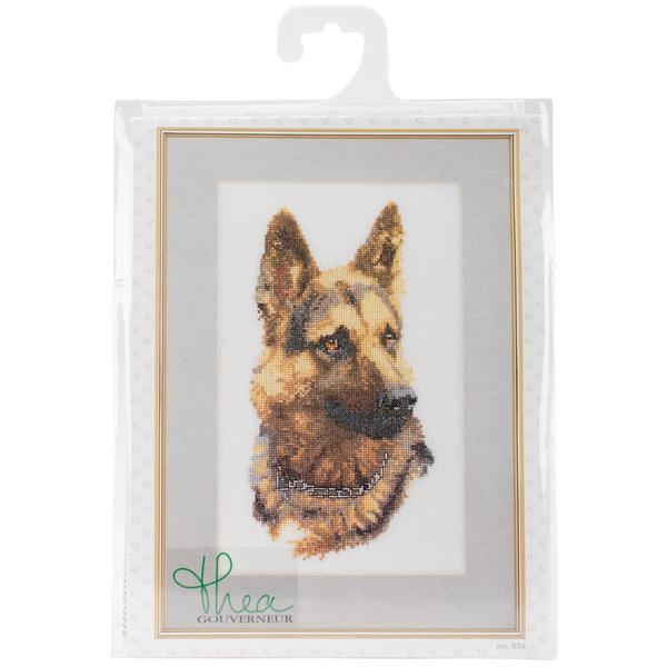 Shepherd's Dog On Aida Counted Cross Stitch Kit - 9-1/2 X13 12 Count