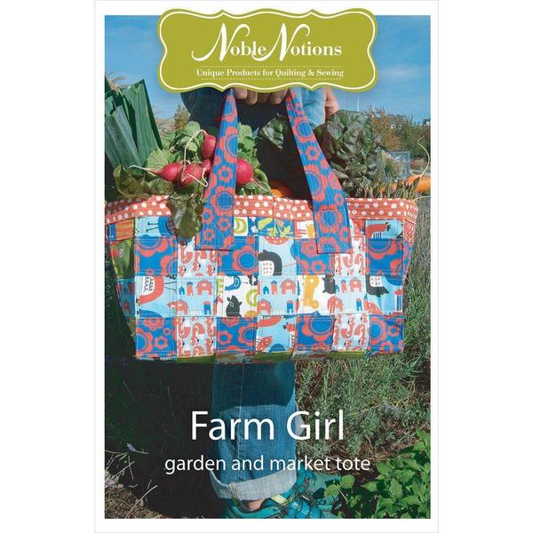 Noble Notions Patterns - Farm Girl Garden & Market Tote
