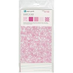 Shape 'n Tape Washi Sheets 6 X12 5/Pkg - Hot Pink