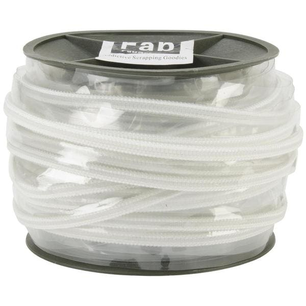 Plastic Zip Trim 20m - White