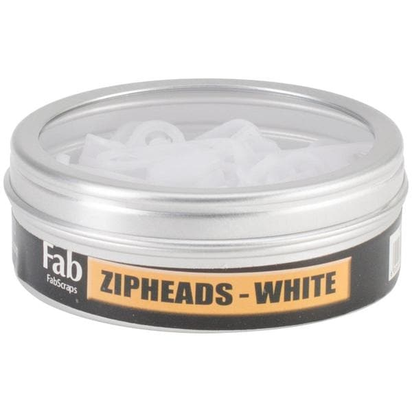 Zip Heads 35/Tin - White