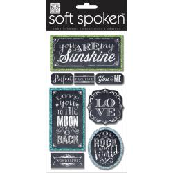 Soft Spoken Themed Embellishments - Chalk-You Are My Sunshine