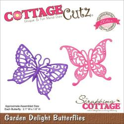 CottageCutz Elites Die 2.1 X1.6 - Garden Delight Butterflies