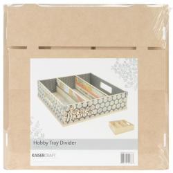 Beyond The Page MDF Divider Hobby Tray - 12.5 X12.5 X3.25
