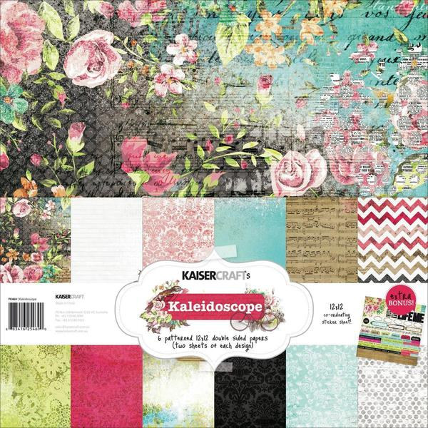 Kaleidoscope Paper Pack 12 X12 - 6 Double-Sided Designs/2 Each + Stickers