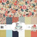Blu Belle Paper Pack 12 X12 - 6 Double-Sided Designs 2/Ea + Stickers