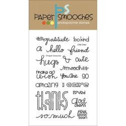 Paper Smooches 4 X6 Clear Stamps - Chit Chat
