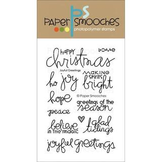 Paper Smooches 4 X6 Clear Stamps - Joyful Greetings