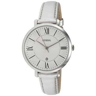 Fossil Women's 'Jacqueline' Three-hand Leather Watch