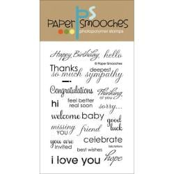 Paper Smooches 4 X6 Clear Stamps - Salutations