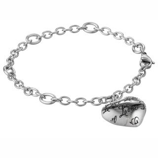 Stainless Steel Love Charm Bracelet