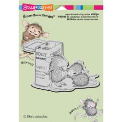 Stampendous House Mouse Cling Rubber Stamp 5.5 X4.5 Sheet - First Aid
