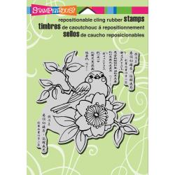 Stampendous Cling Rubber Stamp 5.5 X4.5 Sheet - Cherry Bird