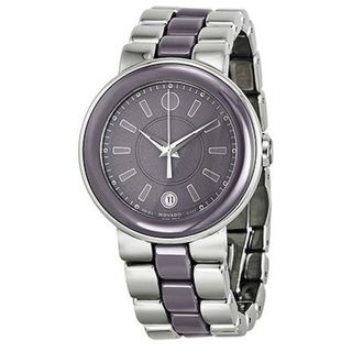 Movado Women's 'Cerena' Stainless Steel/ Smokey Lilac Case Watch
