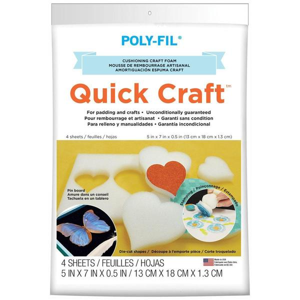 Quickcraft Craft Foam 5 X7 4/Pkg - White