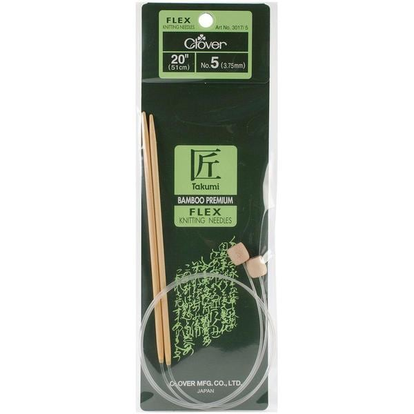 Takumi Bamboo Flexible Knitting Needles 20 - Size 5/3.75mm