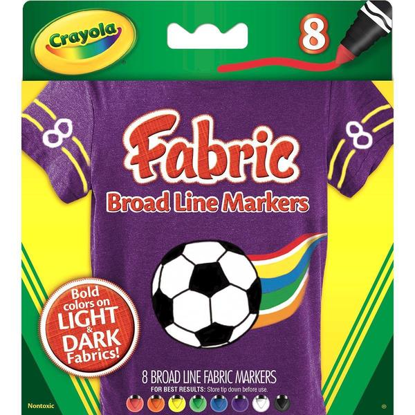Crayola Broad Line Fabric Markers 8/Pkg -