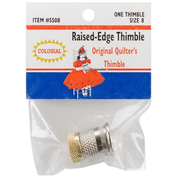 Raised-Edge Thimble - Size 8