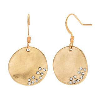 Alexa Starr Rhinestone Hammered Earrings